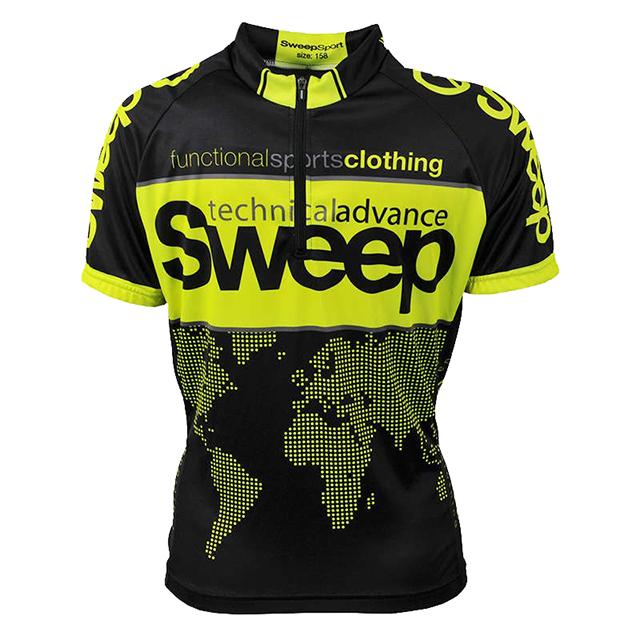 Dětský cyklistický dres D014 - černá   citronová empty 84da484c0b