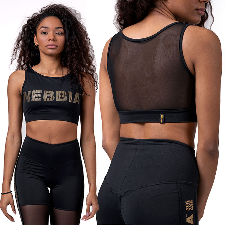 Dámský top 830 INTENSE gold mesh